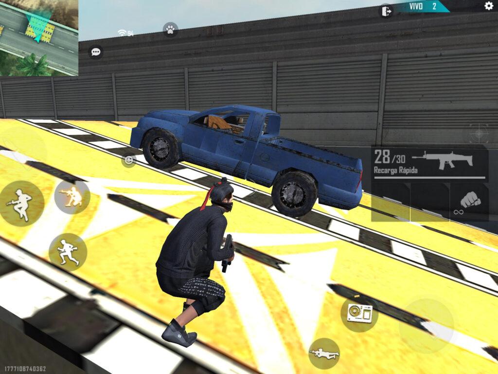 camioneta azul de free fire