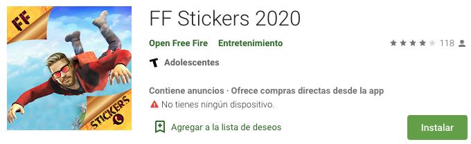 FF Stickers 2020