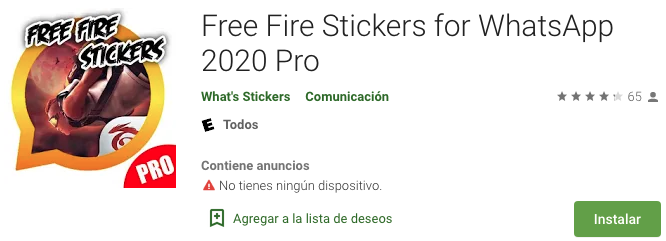 Free Fire Stickers for WhatsApp 2020 Pro