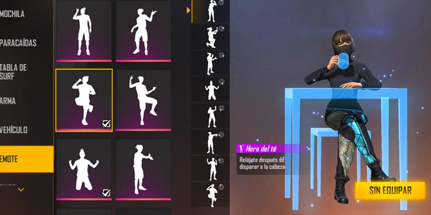 bailes de Free Fire