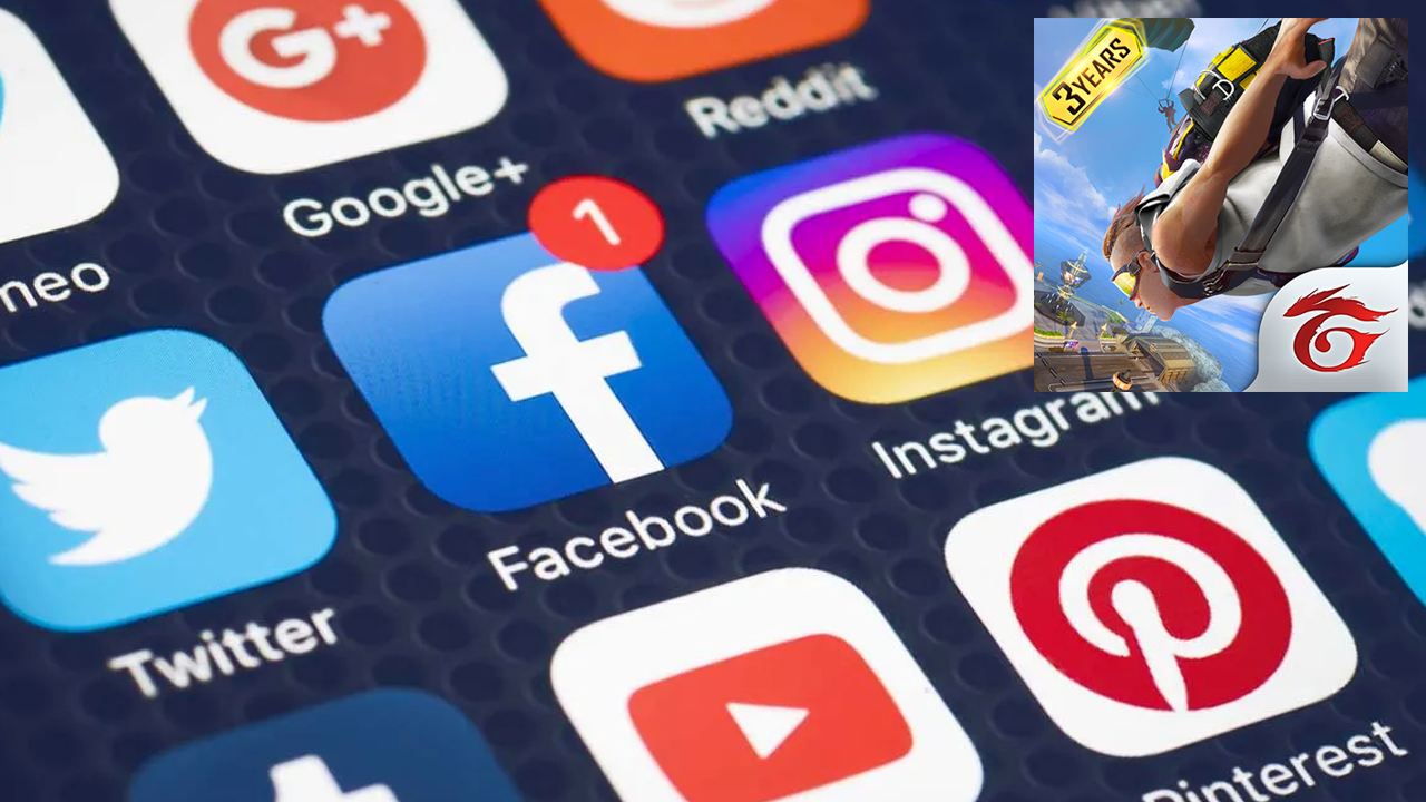 Redes sociales de Free Fire