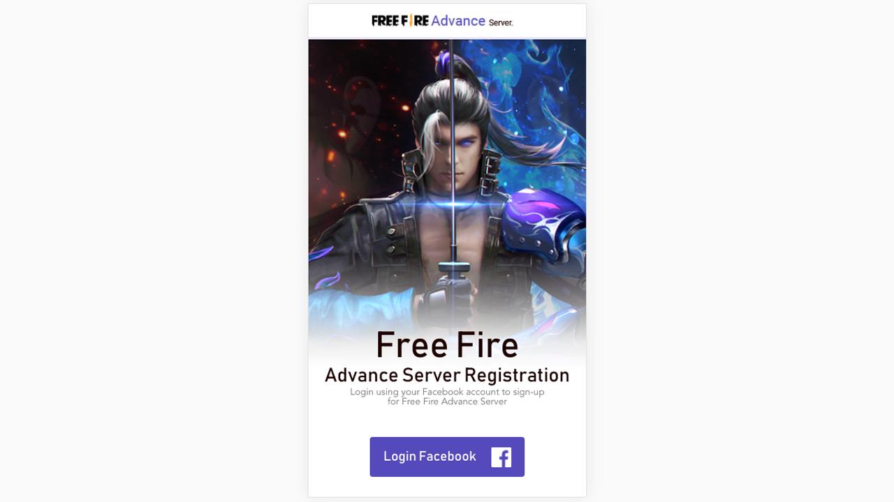 Registrarse en el servidor Avanzado de Free Fire
