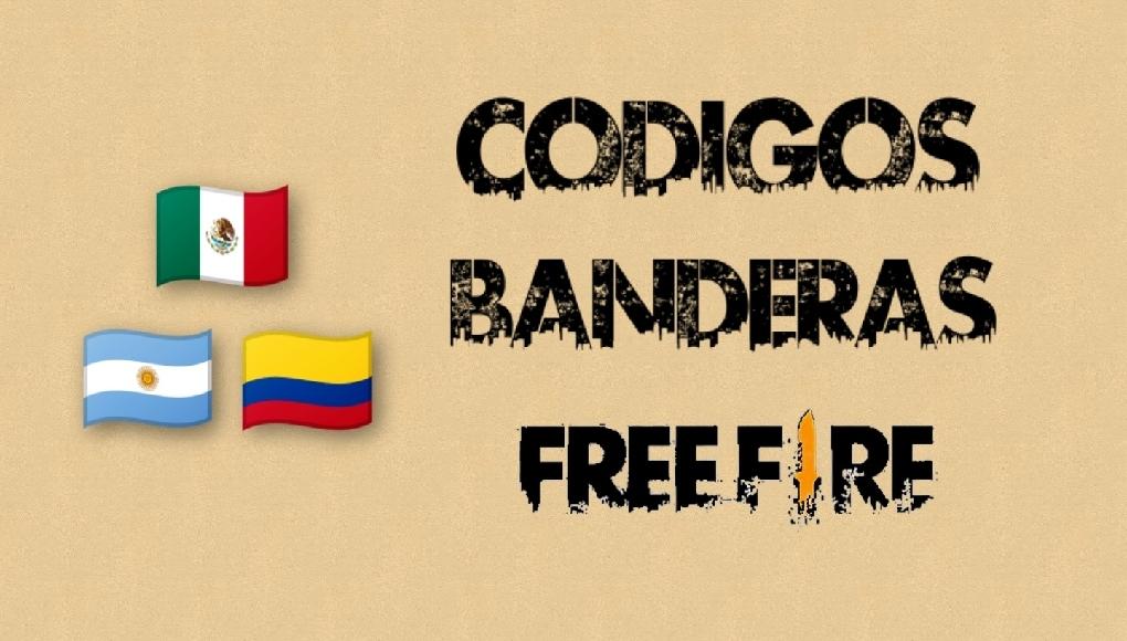 codigos de banderas para free fire